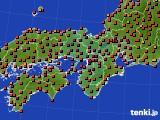 近畿地方のアメダス実況(気温)(2020年08月19日)