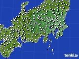 関東・甲信地方のアメダス実況(風向・風速)(2020年08月19日)