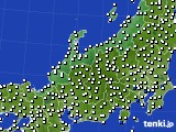 北陸地方のアメダス実況(風向・風速)(2020年08月19日)