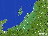 新潟県のアメダス実況(風向・風速)(2020年08月19日)