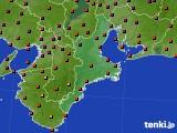 三重県のアメダス実況(気温)(2020年08月20日)