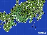 2020年08月20日の東海地方のアメダス(風向・風速)