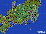 2020年08月21日の関東・甲信地方のアメダス(日照時間)