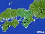 近畿地方のアメダス実況(降水量)(2020年08月22日)
