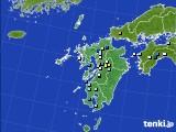 九州地方のアメダス実況(降水量)(2020年08月22日)