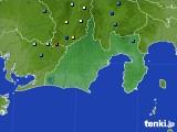 静岡県のアメダス実況(降水量)(2020年08月22日)