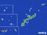 沖縄県のアメダス実況(降水量)(2020年08月22日)