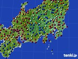 2020年08月22日の関東・甲信地方のアメダス(日照時間)