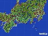 東海地方のアメダス実況(日照時間)(2020年08月22日)
