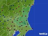 茨城県のアメダス実況(日照時間)(2020年08月22日)