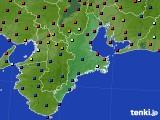 三重県のアメダス実況(日照時間)(2020年08月22日)