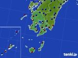 鹿児島県のアメダス実況(日照時間)(2020年08月22日)
