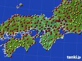 近畿地方のアメダス実況(気温)(2020年08月22日)
