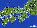 近畿地方のアメダス実況(風向・風速)(2020年08月22日)