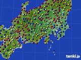 2020年08月23日の関東・甲信地方のアメダス(日照時間)
