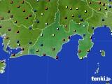 静岡県のアメダス実況(日照時間)(2020年08月23日)