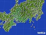 2020年08月23日の東海地方のアメダス(風向・風速)