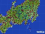 2020年08月24日の関東・甲信地方のアメダス(日照時間)
