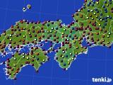 近畿地方のアメダス実況(日照時間)(2020年08月24日)