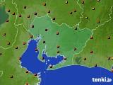 愛知県のアメダス実況(気温)(2020年08月24日)