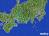 2020年08月24日の東海地方のアメダス(風向・風速)