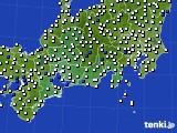 2020年08月25日の東海地方のアメダス(風向・風速)