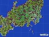 2020年08月26日の関東・甲信地方のアメダス(日照時間)
