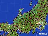 北陸地方のアメダス実況(日照時間)(2020年08月26日)