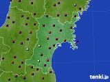 宮城県のアメダス実況(日照時間)(2020年08月26日)