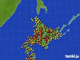 北海道地方のアメダス実況(気温)(2020年08月26日)