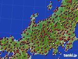 北陸地方のアメダス実況(気温)(2020年08月26日)