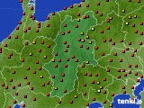 長野県のアメダス実況(気温)(2020年08月26日)