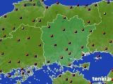 岡山県のアメダス実況(気温)(2020年08月26日)
