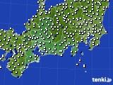 東海地方のアメダス実況(風向・風速)(2020年08月26日)