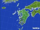 九州地方のアメダス実況(降水量)(2020年08月27日)