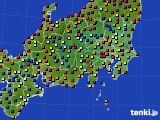 2020年08月27日の関東・甲信地方のアメダス(日照時間)