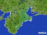 2020年08月27日の三重県のアメダス(日照時間)