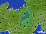 滋賀県のアメダス実況(気温)(2020年08月27日)