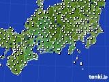 東海地方のアメダス実況(風向・風速)(2020年08月27日)