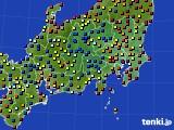2020年08月28日の関東・甲信地方のアメダス(日照時間)
