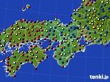 近畿地方のアメダス実況(日照時間)(2020年08月28日)
