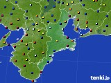 三重県のアメダス実況(日照時間)(2020年08月28日)