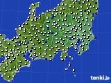 関東・甲信地方のアメダス実況(風向・風速)(2020年08月28日)