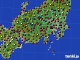 2020年08月29日の関東・甲信地方のアメダス(日照時間)