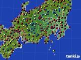 2020年08月30日の関東・甲信地方のアメダス(日照時間)