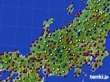 北陸地方のアメダス実況(日照時間)(2020年08月30日)