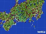 東海地方のアメダス実況(日照時間)(2020年08月30日)
