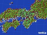 近畿地方のアメダス実況(気温)(2020年08月30日)