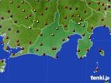 2020年08月30日の静岡県のアメダス(気温)