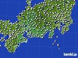 2020年08月30日の東海地方のアメダス(風向・風速)